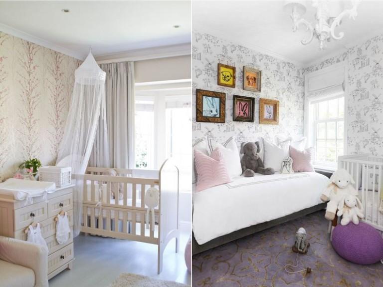 обои в интерьере комнаты новорожденного