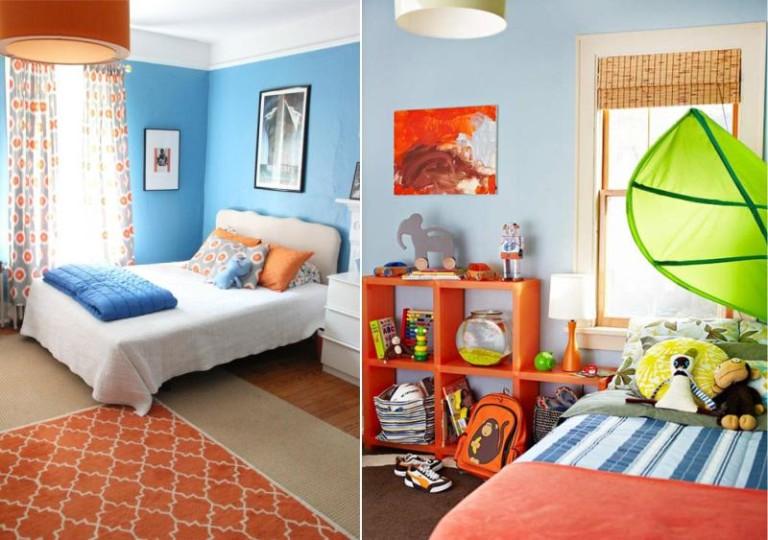 Оранжевого-голубая детская
