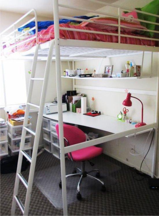 Кровать-чердак с учебным местом